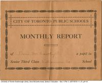 City of Toronto Schools Monthly Report : report card of Doris McCarthy