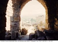 View from stone archway at Byblos archaeological site