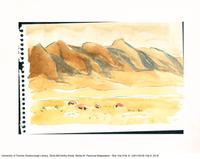 Mountains in colour [reproduction of a watercolour sketch]
