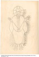 [Religious sketch of saint?]