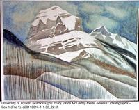 Snow-capped mountain [photograph of painting]