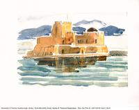 Castle near the Water in colour [watercolour reproduction]