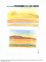 Two sketches of hills in colour [watercolour reproduction]