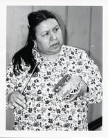Indigenous artist Sadie Buck performing