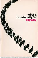 What is a University for Anyway, front cover