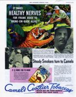 It Takes Healthy Nerves for Frank Buck to Bring 'Em Back Alive! [advertisement]
