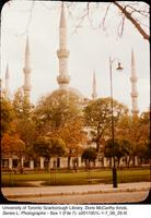 Minarets of a mosque in Istanbul, Turkey