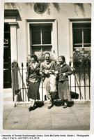 Doris McCarthy with Noreen Keith-Beattie (nee Masters) and friend in London England