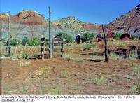 Red gorge with fence