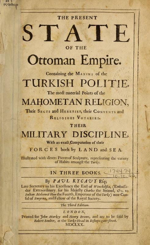 The present state of the Ottoman Empire