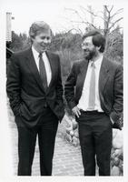Portrait: U of T President Rob Pritchard with Principal Paul Thompson April/90