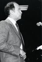 Pierre Eliot Trudeau giving a speech at University of Toronto Scarborough