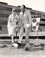 Margaret Birch and John Ball at Groundbreaking Event for V.W. Bladen Library