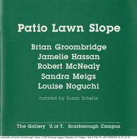Patio Lawn Slope [exhibition catalog]