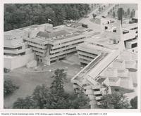 Aerial shot of Humanities, Science, and Recreation Wings