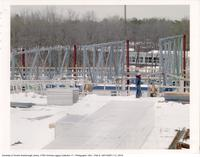 Academic Resource Centre - installation of roof trusses