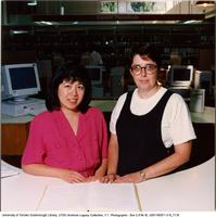 Elaine Tamura & Janice Crichton-Patterson, Bladen library, Scarborough College