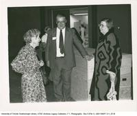 Doris McCarthy and Professor Irwin at Leigha Lee Browne Theatre Opening