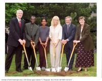 President Birgeneau, Principal P. Thompson, and P. Yakimov at Groundbreaking Ceremony for the ARC