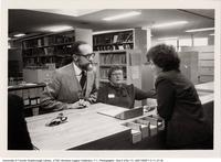 John Ball, Librarian (L) at the Opening Event for V.W. Bladen Library