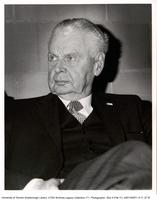 Large portrait of John Diefenbaker, Watt's Lecture