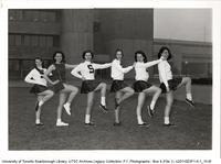 Women's Cheerleading Team at Main Entrance