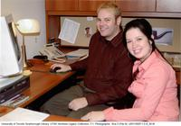 Chad Crichton (librarian) & Monika Sammut (media technician), UTSC library, ARC, Scarborough Campus