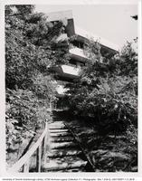 Stairs to Highland Creek Valley, behind Humanities Wing